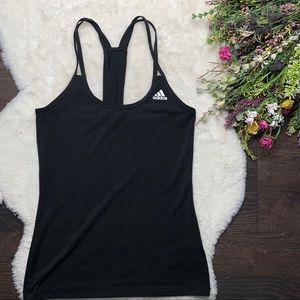 Adidas Strappy Techfit Black Workout Tank Top